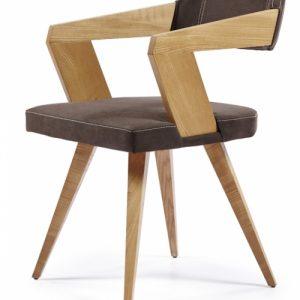 Καρέκλα Τραπεζαρίας Σκούρο Καφέ με Ξύλο